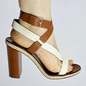 Tory Burch Marbella Strappy High Heeled Sandals 10